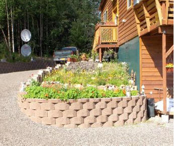 Side view of professional landscaping in Fairbanks, Alaska