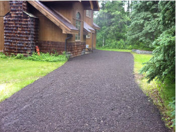 After picture of gravel driveway landscaping
