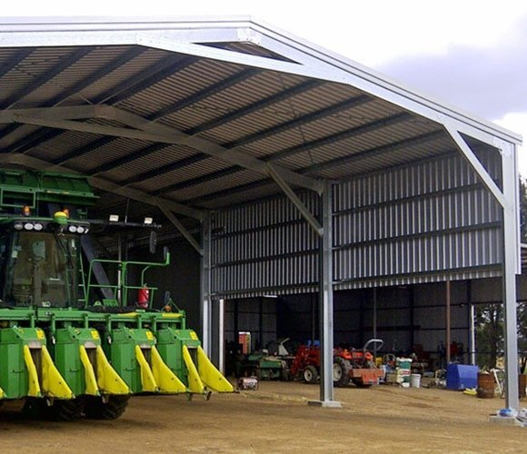 Large machinery shed