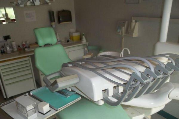 la postazione in uno studio dentistico
