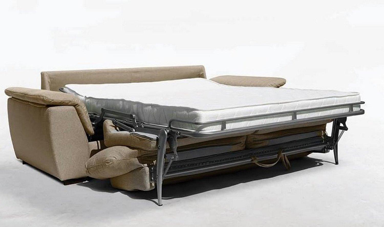 divano letto beige aperto