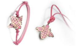 bracciale con ape rosa