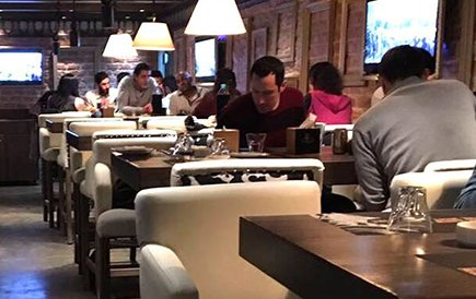people in the restaurant