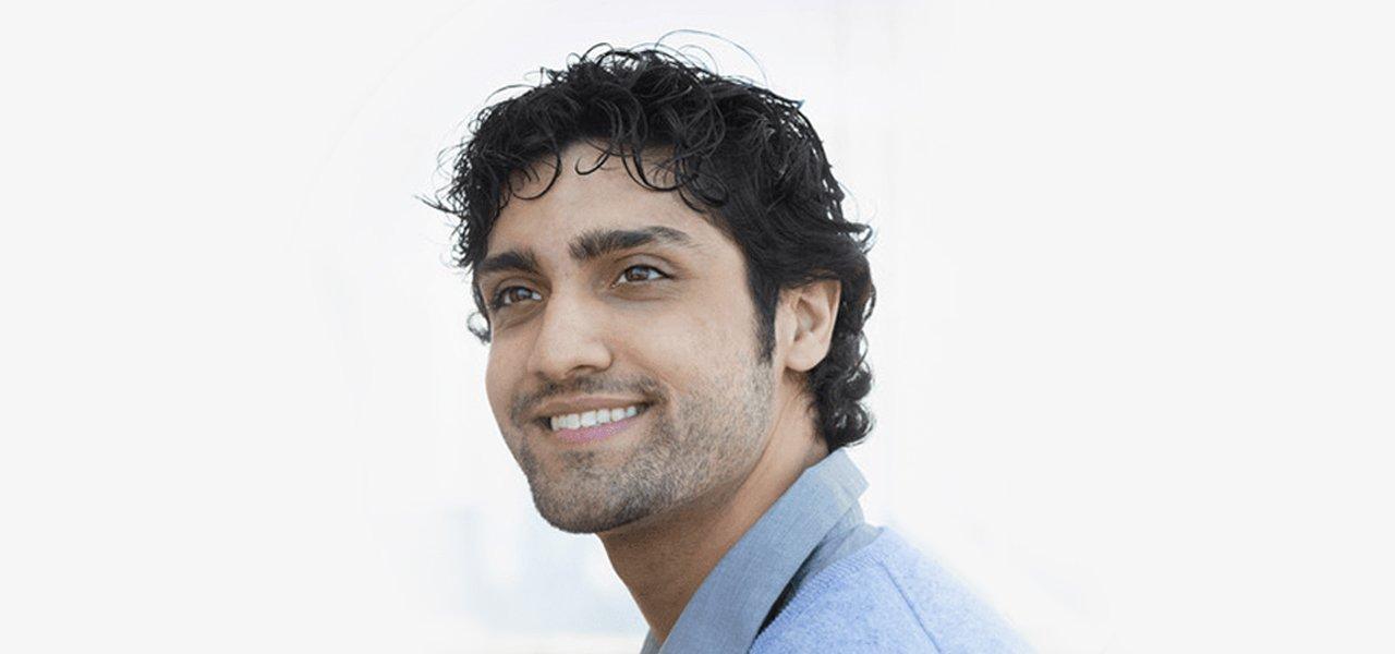 a man with dense hair