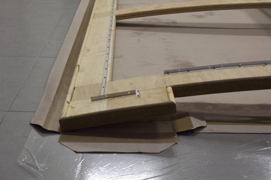 progetto di un telaio concavo in legno