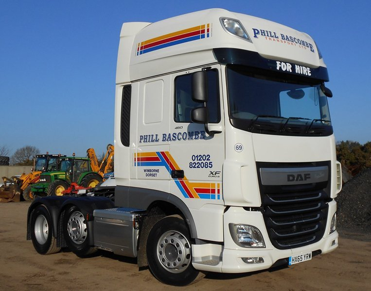 Well-maintained haulage vehicles