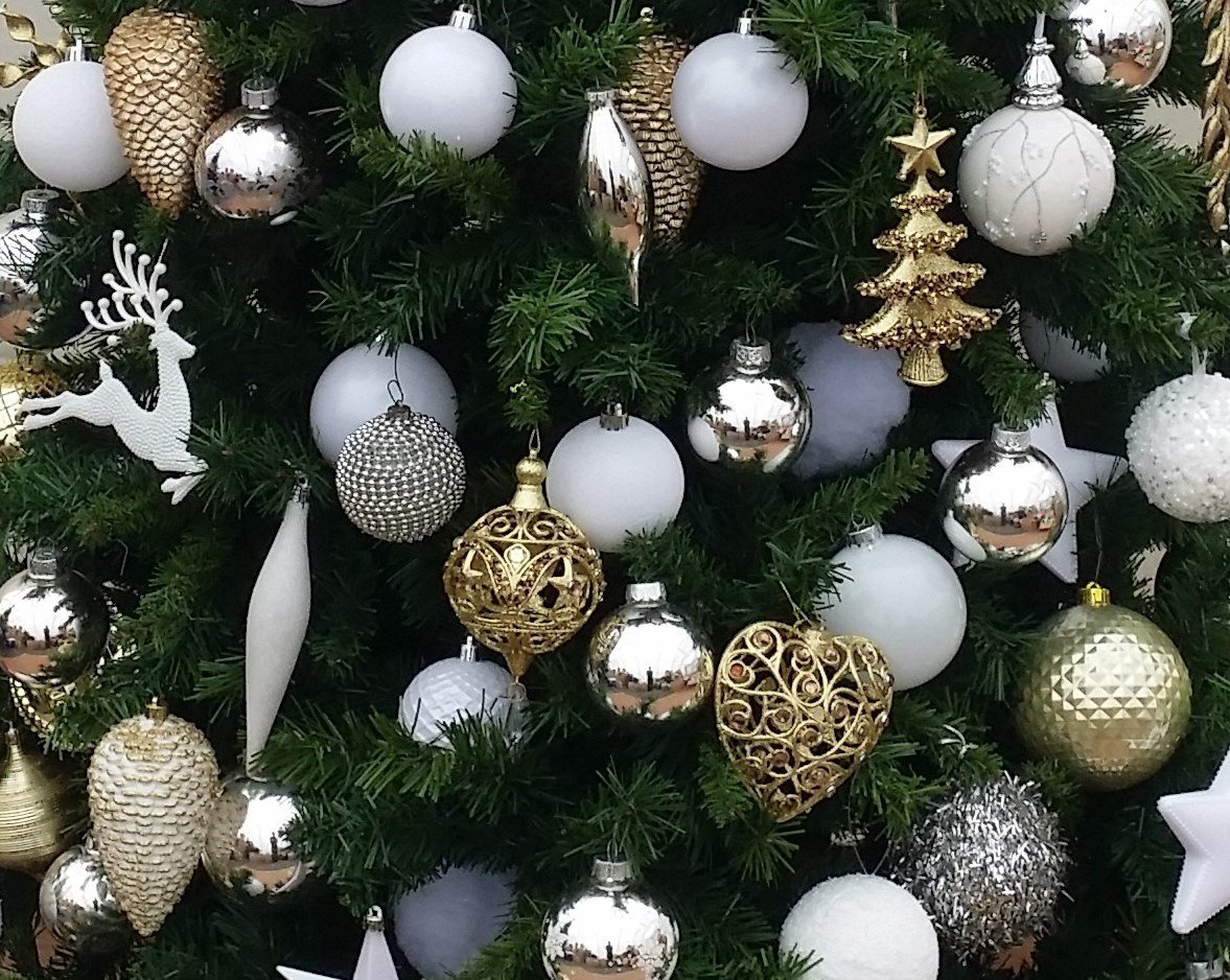christmas trees silver jewel