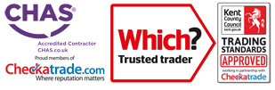 Checkatrade, Chas and Trading standards approved logo