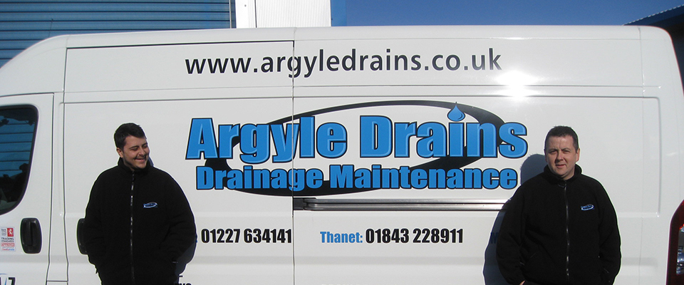 Arglye drains drainage maintenance experts next to the drainage response van
