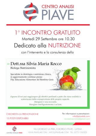 Nutrizione dott.ssa Silvia Maria Rocco