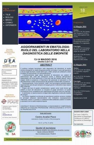 Aggiornamenti in ematologia | Centro Analisi Piave