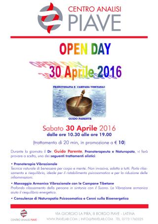 OPEN DAY   TRATTAMENTI OLISTICI Centro Analisi Piave