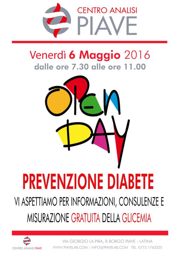 Open Day Prevenzione Diabete   Centro Analisi Piave