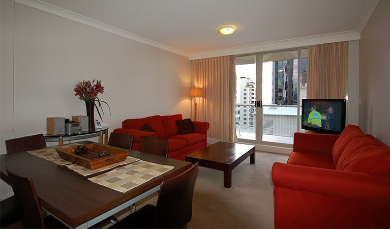 A serviced apartment in Sydney