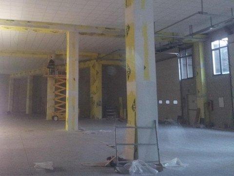 Protezione pilastri e controsoffitto pann.modulari
