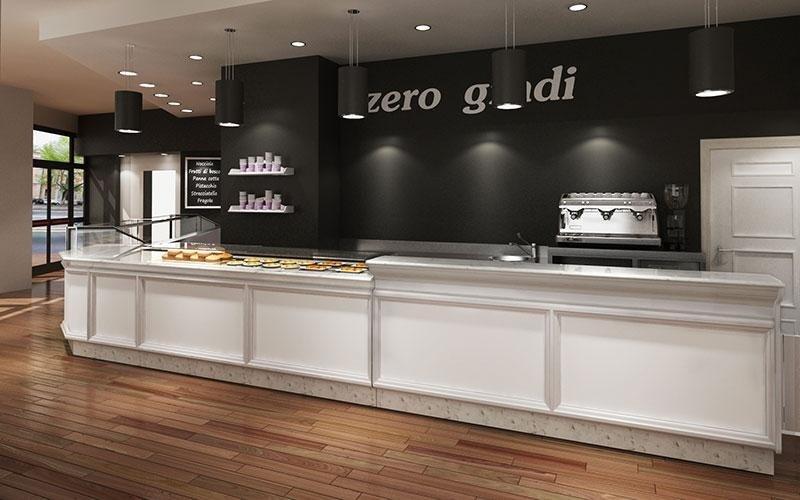 Arredamento gelaterie  modello LADY LACCATO