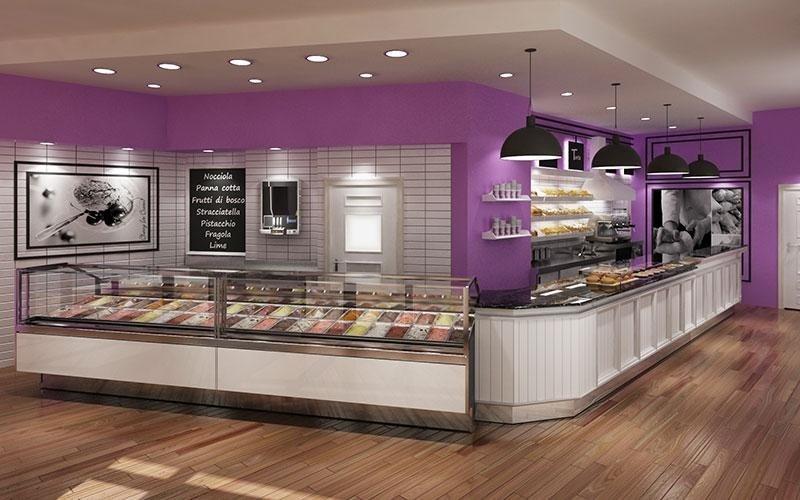 Attrezzature e arredamento per gelaterie salerno zunno for Arredamenti per gelaterie
