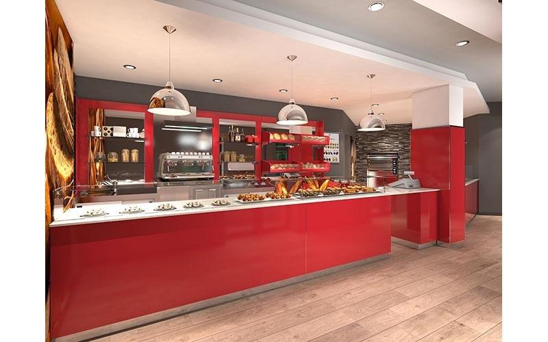 Arredamento ristoranti modello GATE con RETRO PANE