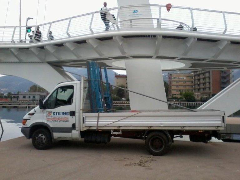 Lavori ponte Mirabello La Spezia
