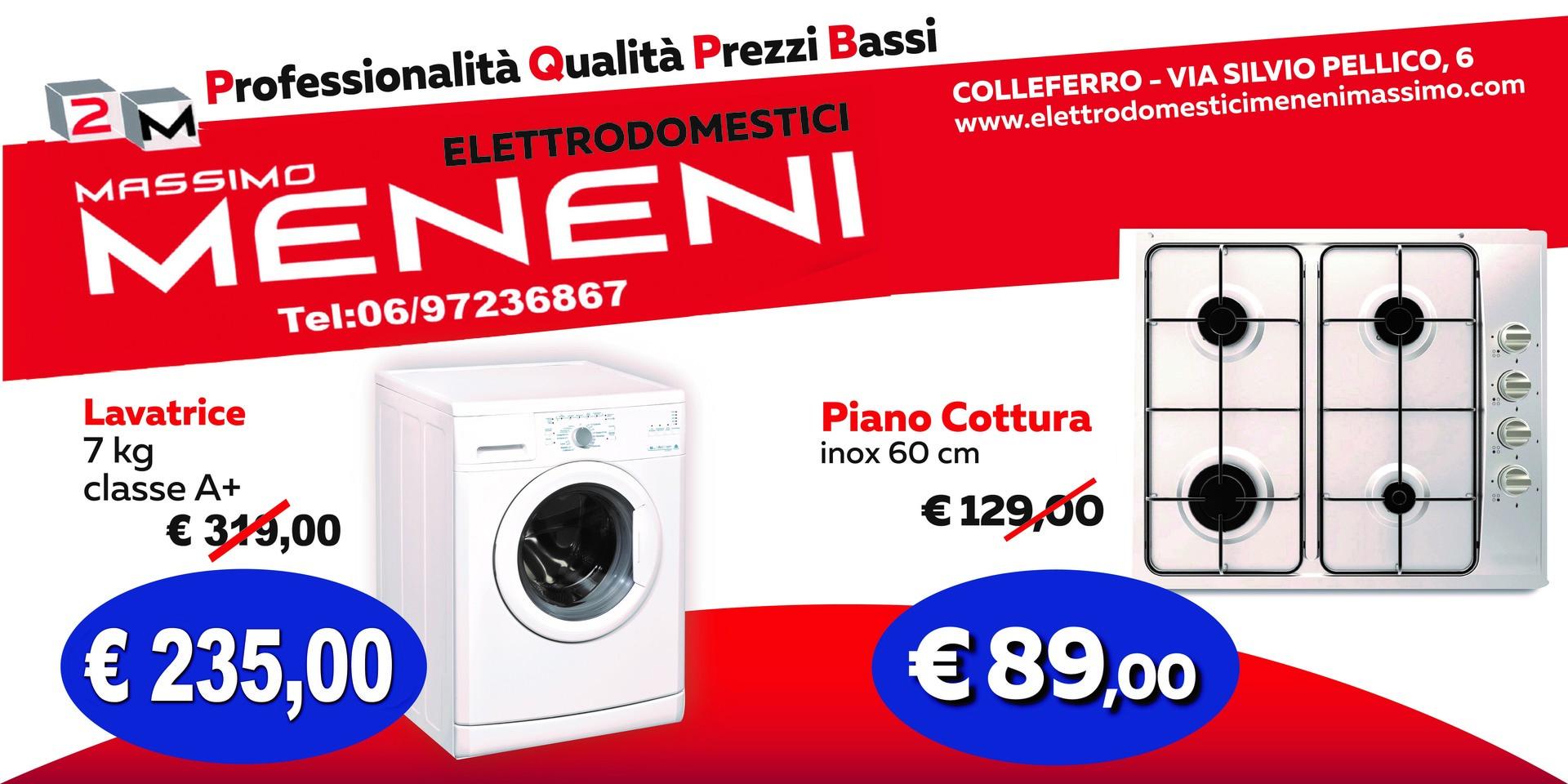 promozione lavatrice e piano cottura