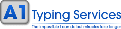 A1 Typing Services Company Logo