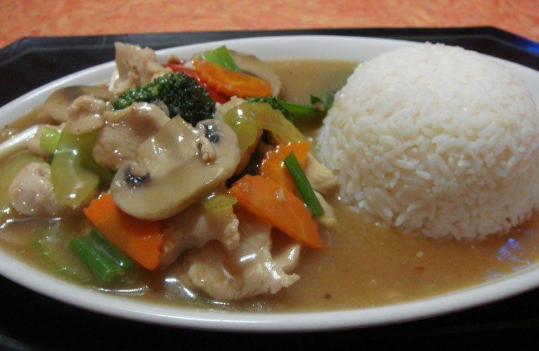 thai-rice-with-mushrooms