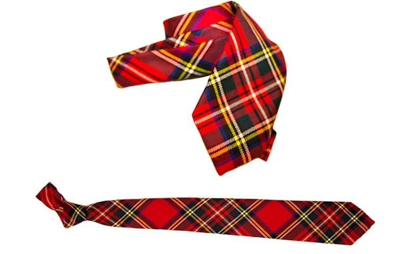 Cravatte disegno scozzese