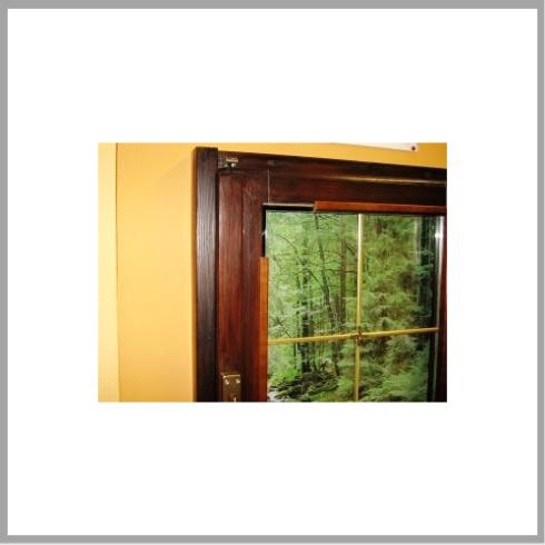 Particolare della finestra e del vetro