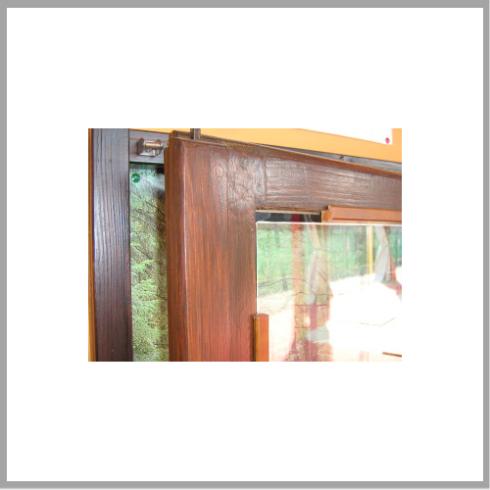 Particolare del vetro e della finestra