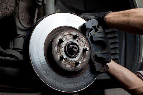 vista del disco in acciaio di una macchina