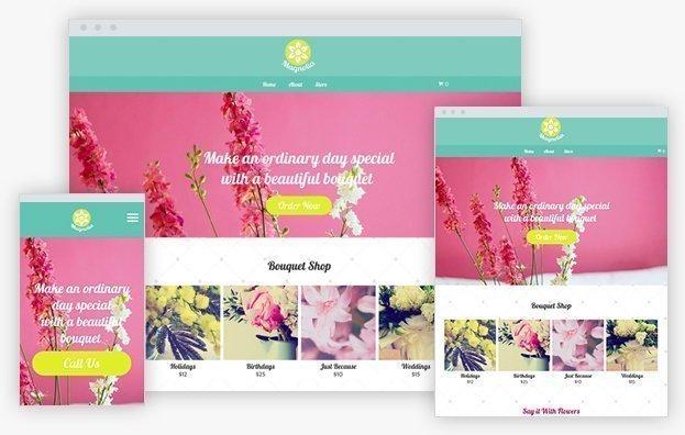 Reddrop Media Flower Store Template