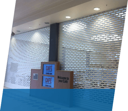 Window shutters over food service hatches