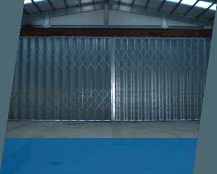 A set of horizontal folding doors