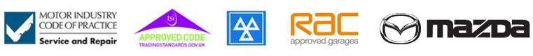 RAC MAZDA APPROVEDCODE logos