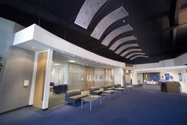 suspended ceiling in an office