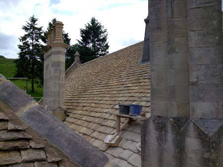 roof made of Cotswold stone
