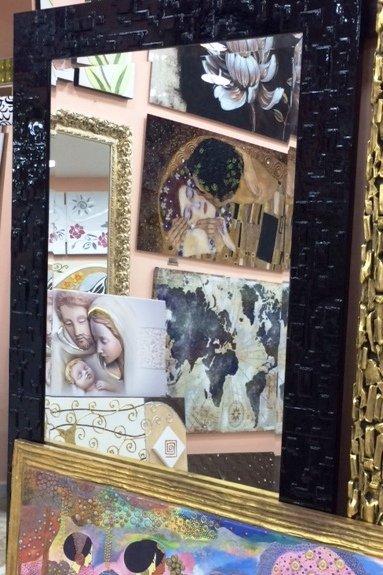 Specchio con cornice moderna colore nero
