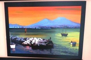 Stampa del golfo di Napoli