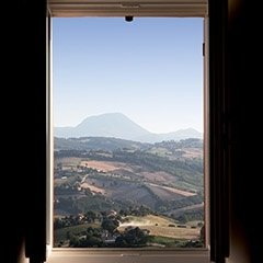 view of the Umbrian hills