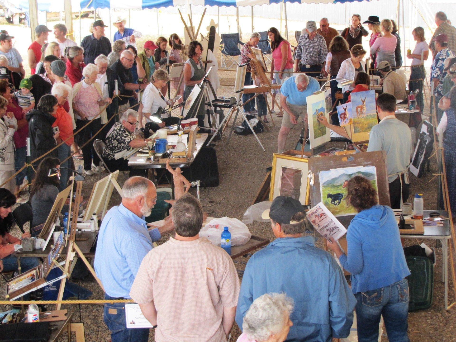 cmr stampede quick draw art auction