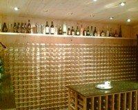 unique designer space for storing bottles