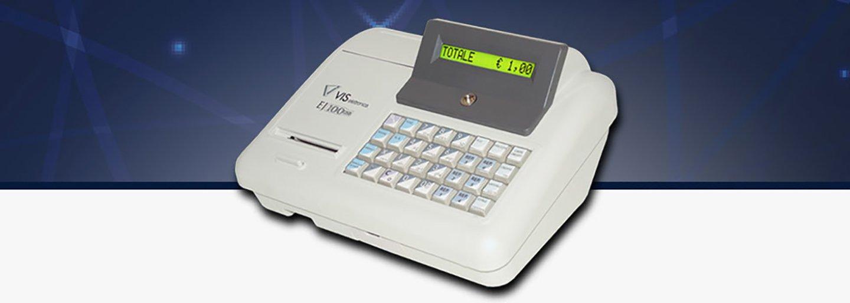registratore di cassa bianco