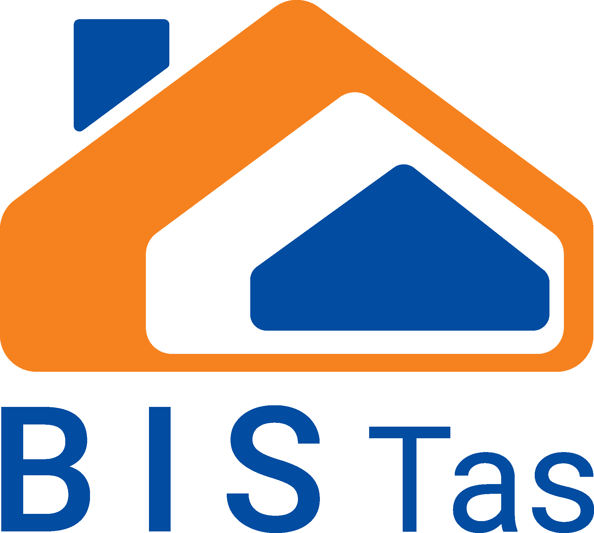 Blue and orange business icon