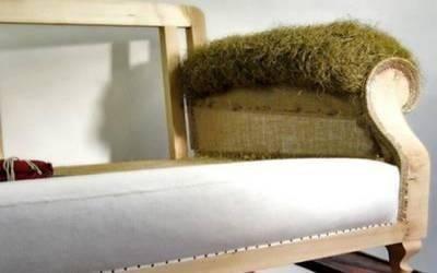Preparazione materassina su braccioli in crine vegetale