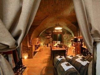 the osteria's wine cellar
