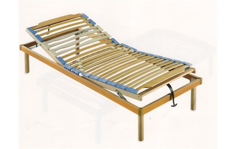rete con doghe in legno reclinabile regolabile per letto