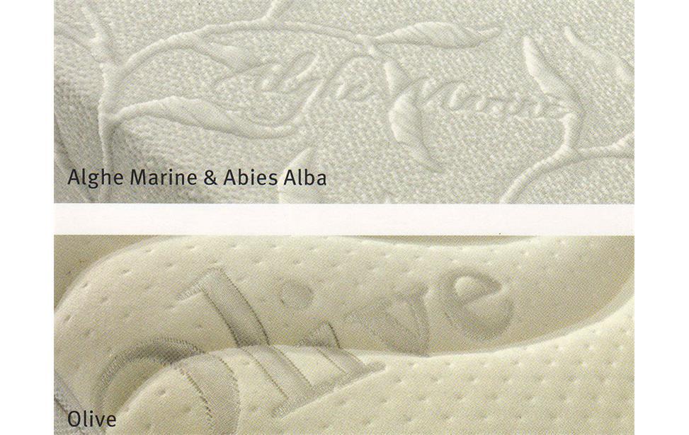 primo piano di due tipi di materasso