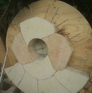 michael livisianos stonemason designing stone in progress