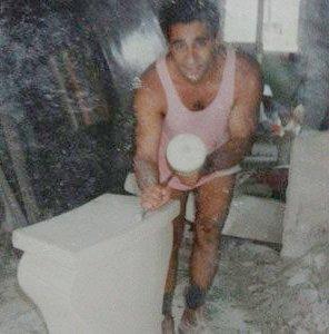michael livisianos stonemason man at work