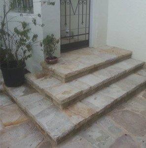 michael livisianos stonemason stones at outside of home